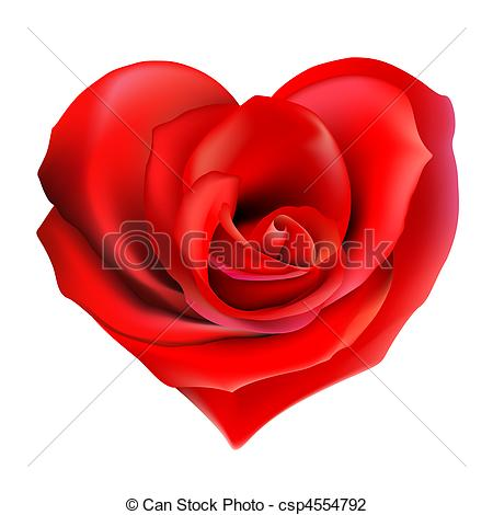 Clipart hearts and roses. Rose heart stock illustration