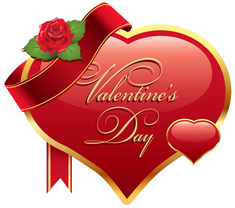 Valentines day hearts clip art picture free Valentines Day Heart with Rose PNG Clipart Picture picture free