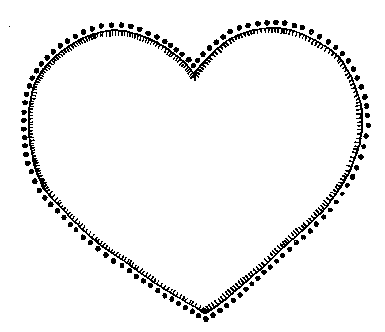 Clipart hearts black and white vector freeuse download Black And White Heart Clipart - Clipart Kid vector freeuse download