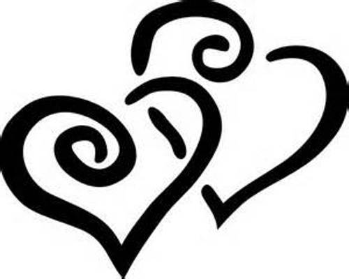 Clipart hearts black and white image transparent stock Black And White Clipart, Heart - ClipArt Best image transparent stock