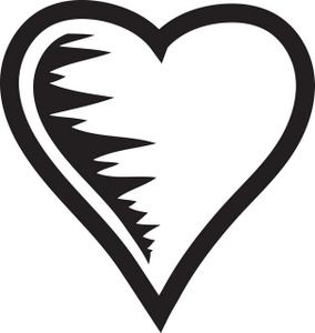 Clipart hearts black and white vector royalty free Black And White Clipart, Heart - ClipArt Best vector royalty free