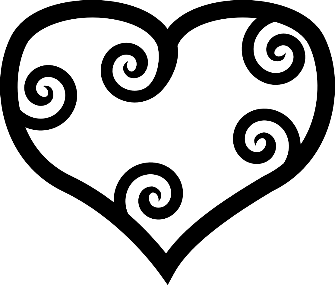 Heart clipart black and white outline graphic Free Black And White Clipart, Heart - ClipArt Best graphic