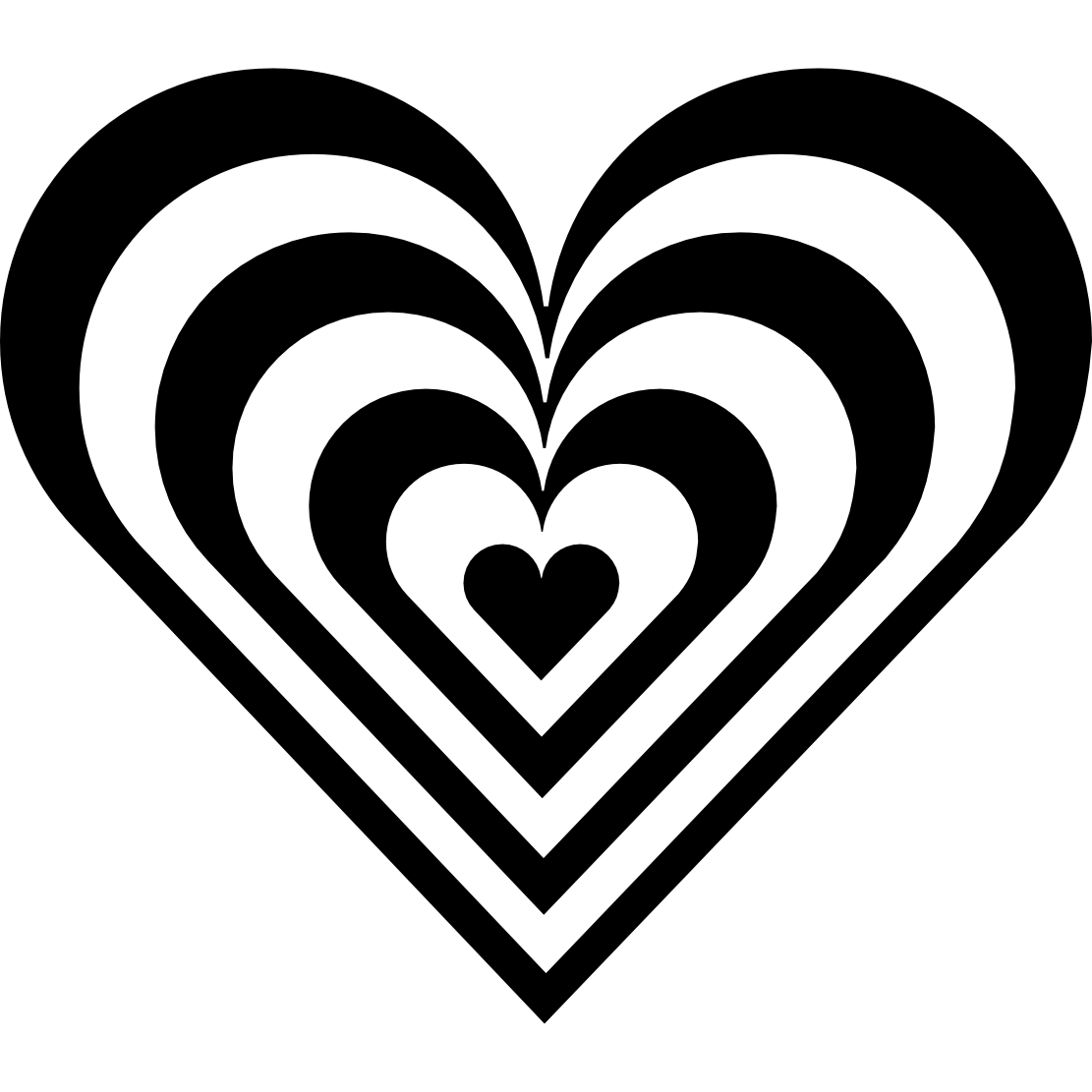 Black and white clipart heart graphic transparent download Clipart Heart Black And White | Clipart Panda - Free Clipart Images graphic transparent download