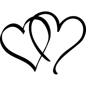 Clipart hearts black and white clipart freeuse library Free black and white heart clipart - ClipartFest clipart freeuse library