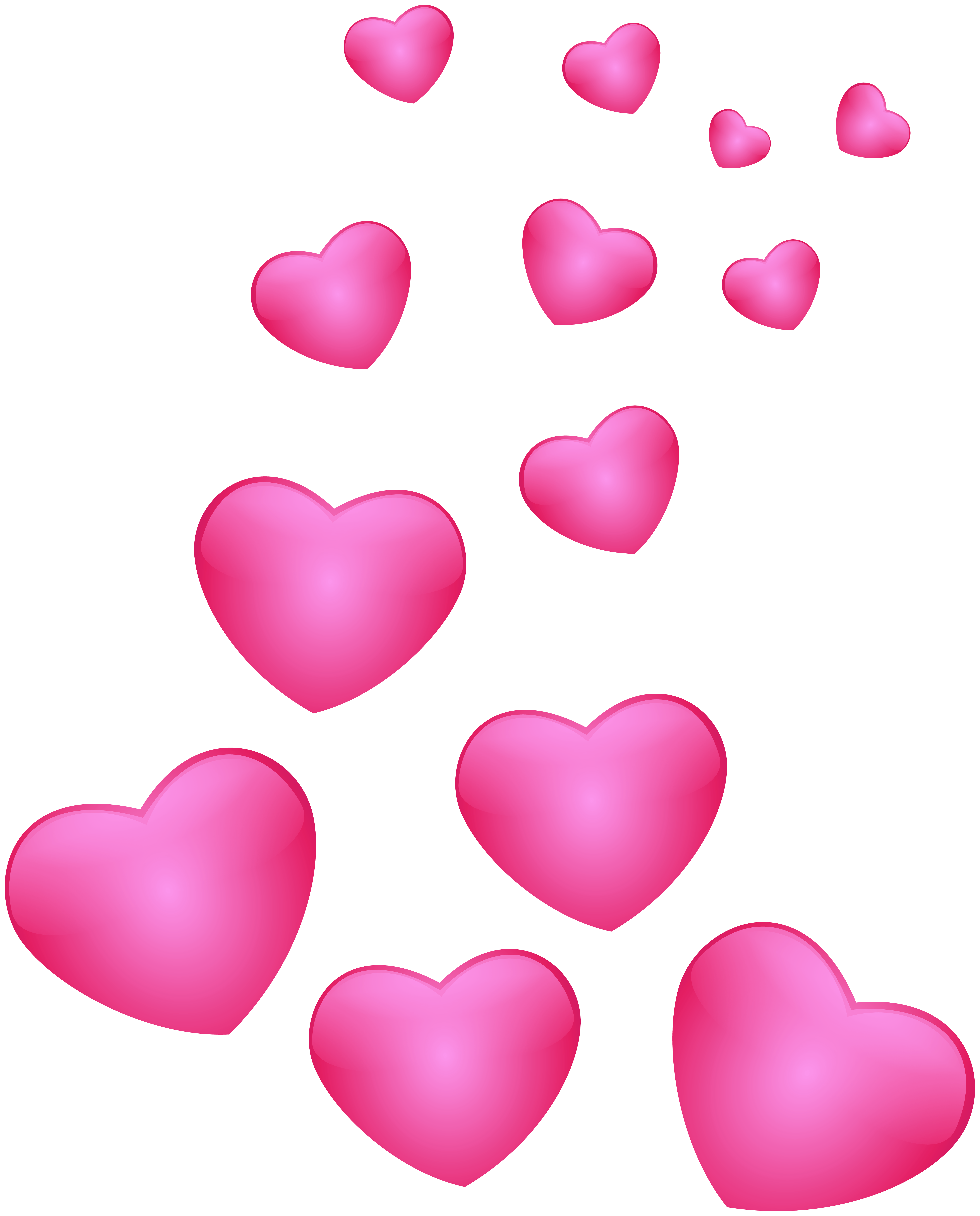 Hearts free clip art clip art black and white Hearts Pink PNG Clip Art Image | Gallery Yopriceville - High ... clip art black and white