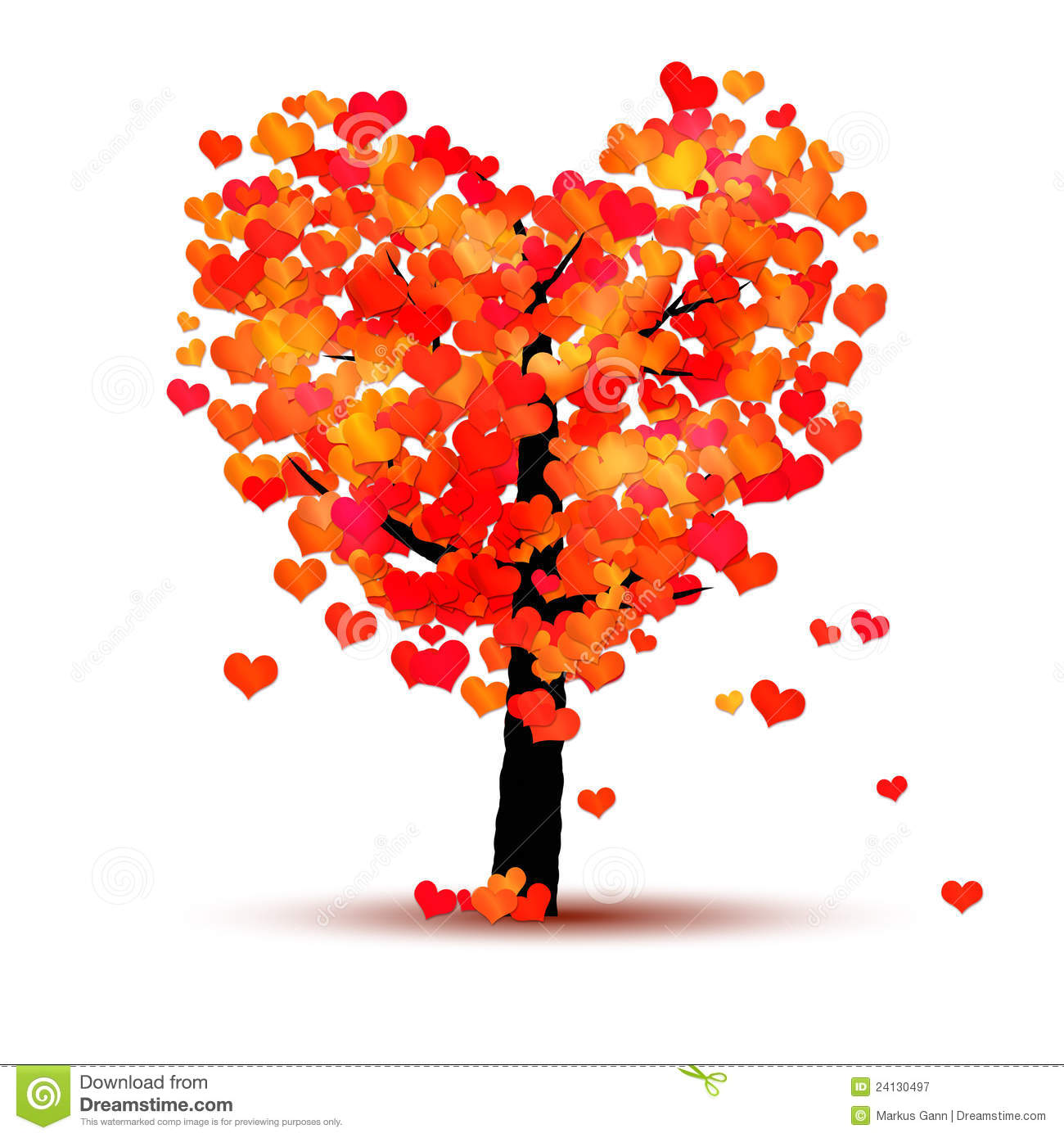 Clipart hearts in tree jpg freeuse stock Heart Tree Clipart - Clipart Kid jpg freeuse stock