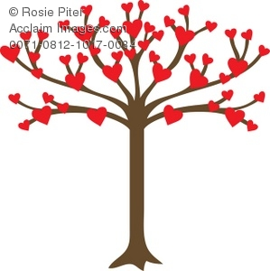 Heart family clip art. Clipart hearts in tree
