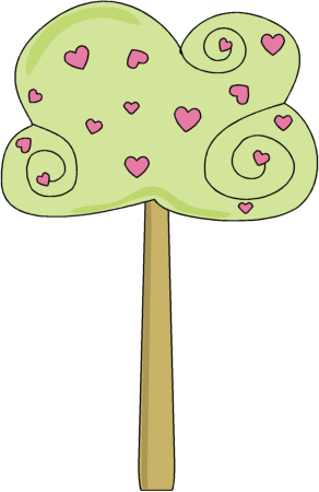 Clipart hearts in tree vector download Heart Tree Clip Art - Heart Tree Image vector download