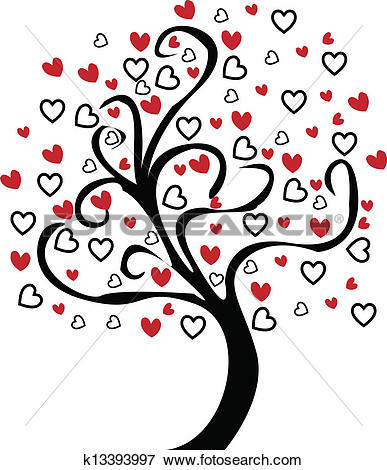 Of heart swirl border. Clipart hearts in tree