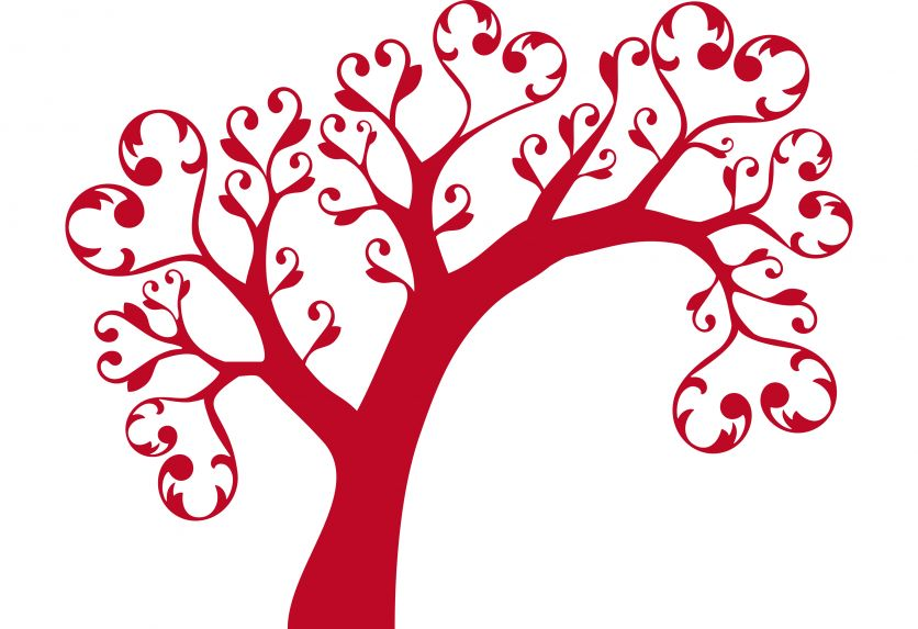 Clipart hearts in tree. Heart kid http www