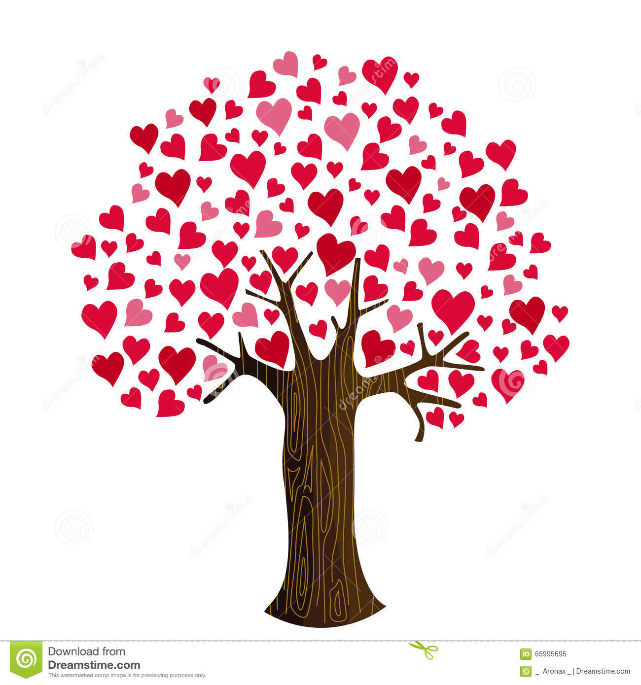 Clipart hearts in tree jpg royalty free library Valentine's Day Hearts On Tree Clip Art Stock Photos - Image: 3909863 jpg royalty free library