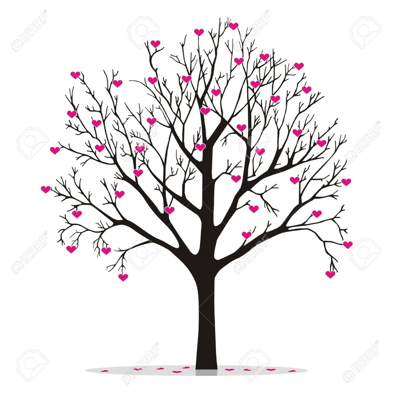 Clipart hearts in tree image transparent library 19,971 Heart Tree Stock Illustrations, Cliparts And Royalty Free ... image transparent library
