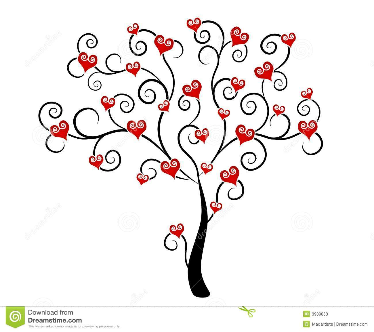 Clipart hearts in tree banner transparent library Heart Tree Clipart - Clipart Kid banner transparent library