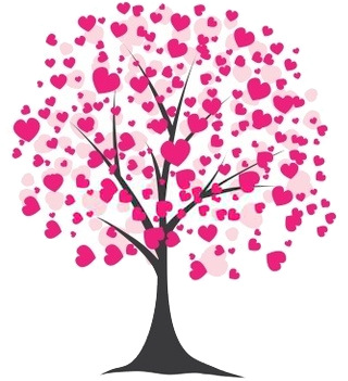 Clipart hearts in tree jpg stock Tree with hearts clipart - ClipartFest jpg stock