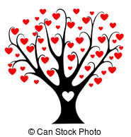 Clipart hearts in tree vector library library Tree with hearts clipart - ClipartFest vector library library