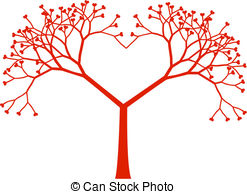 Clipart hearts in tree jpg black and white download Tree hearts clipart - ClipartFox jpg black and white download