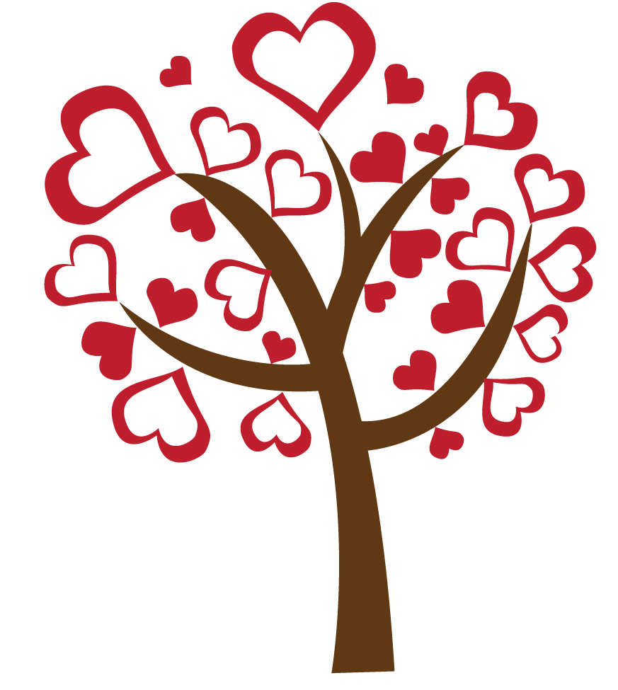 Clipart hearts in tree png transparent download Heart Tree Clipart - Clipart Kid png transparent download
