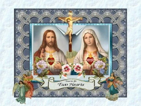 Clipart hearts jesus mary.  images about holylove