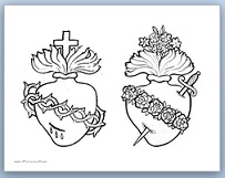 Clipart hearts jesus mary clip art stock Devotion to the Sacred and Immaculate Hearts {Crafts, Printables ... clip art stock