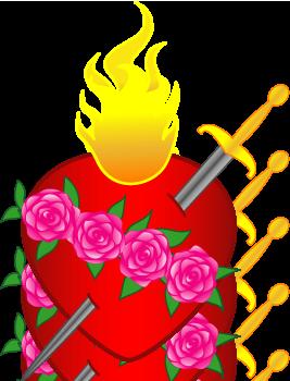 Clipartfest errantem animum clip. Clipart hearts jesus mary