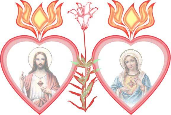 Clipart hearts jesus mary svg transparent Two Hearts Design - Two Hearts of Jesus and Mary Clipart svg transparent