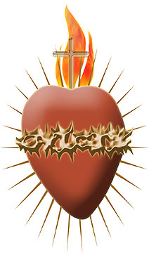 Clipart hearts jesus mary. Two design of and