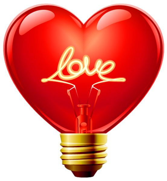Clipart hearts love download Love Heart Bulb PNG Clipart | It's All About = LOVE | Pinterest ... download