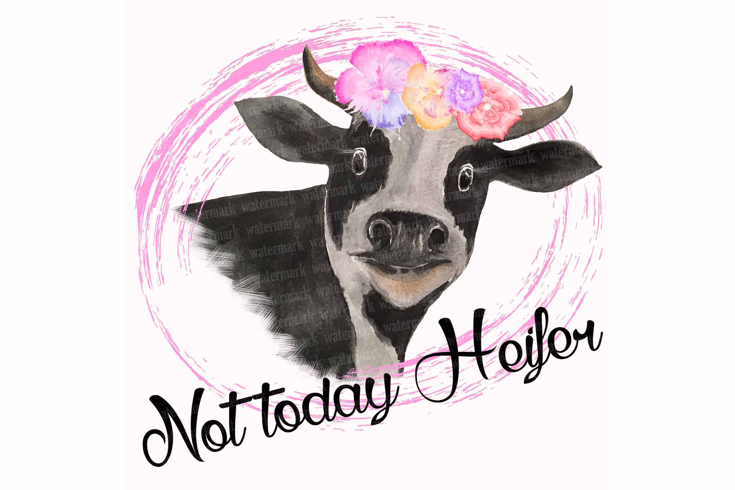 Clipart heifer png freeuse download Not today Heifer PNG Cow clipart for sublimation png freeuse download