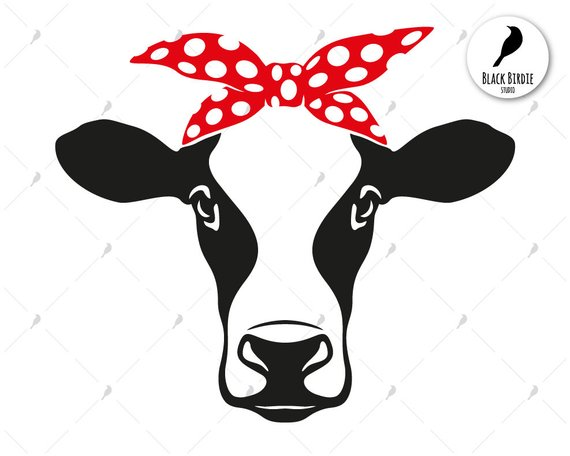 Clipart heifer graphic library library Cow head bandana svg, cow svg, cow bandana svg, farm svg, heifer svg ... graphic library library