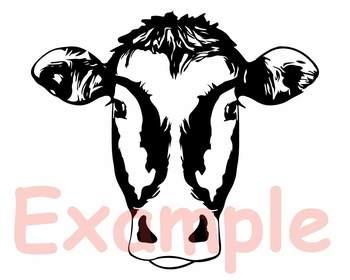 Clipart heifer image royalty free Cow Head whit Bandana Silhouette SVG clipart heifer cowboy Farm Milk 866S image royalty free