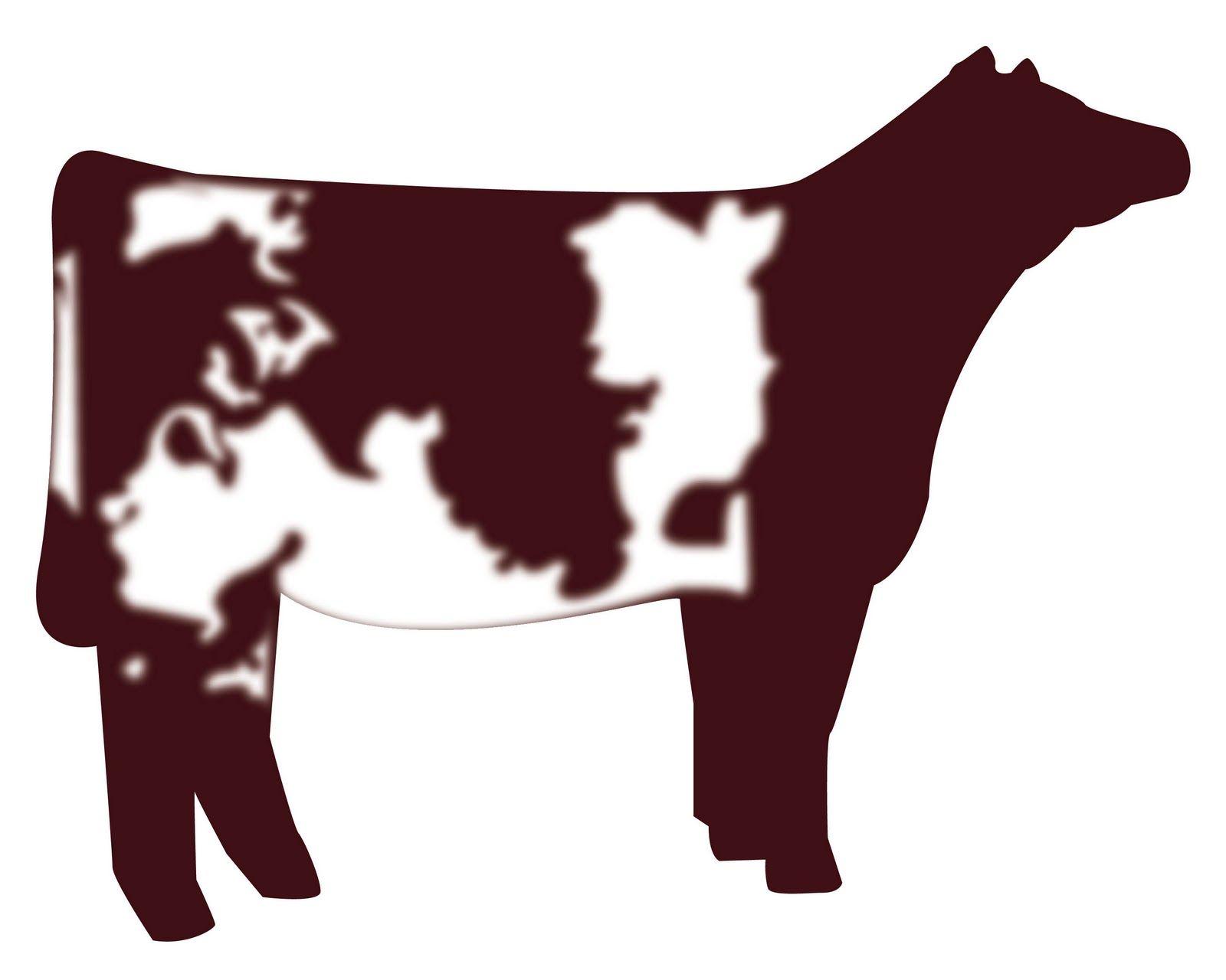 Clipart heifer svg transparent show heifer clip art | Shorthorn Heifer vector graphic | cows ... svg transparent