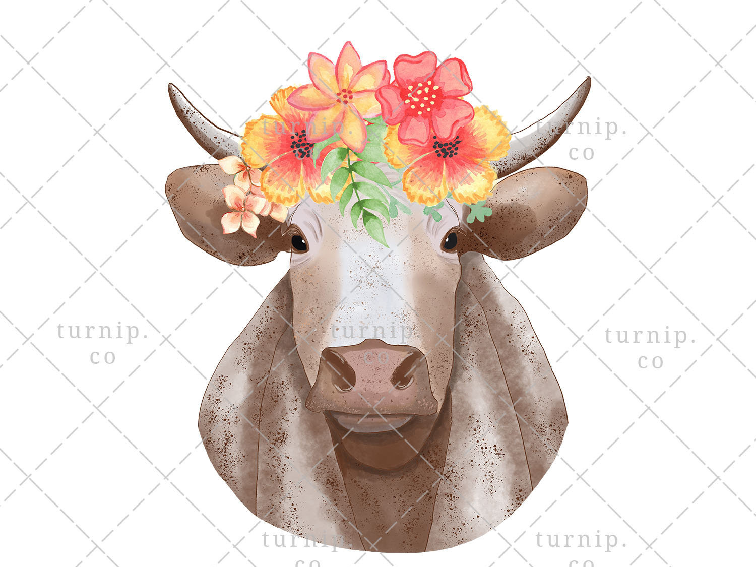 Clipart of not today heifer with cow