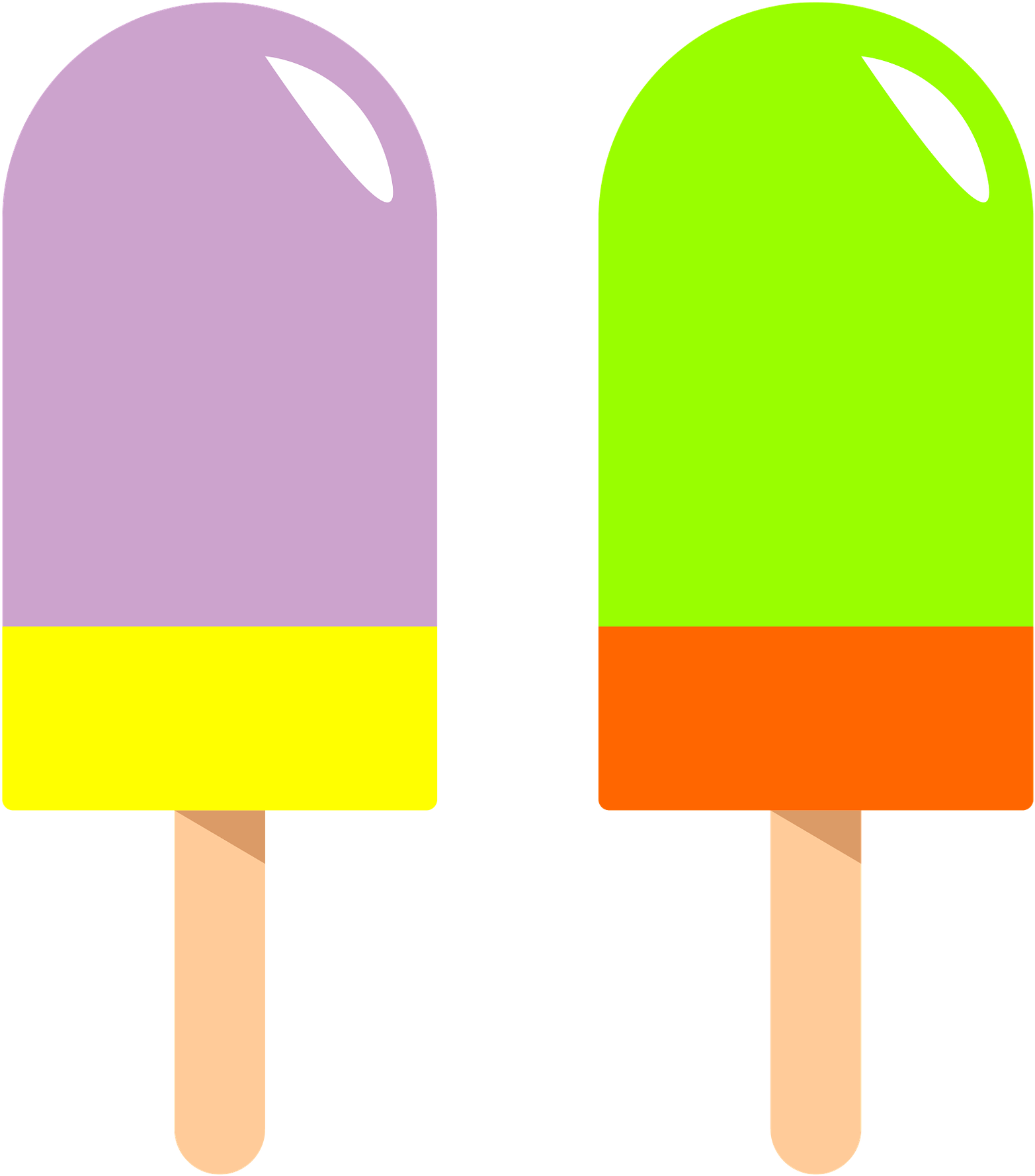 Clipart helado banner black and white library Popsicle Clipart Green - Paleta De Helado Png Transparent Png - Full ... banner black and white library