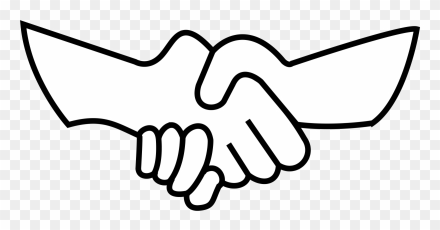 Hands png black and white clipart freeuse stock Helping Hand Black And White Clipart - Clip Art Shake Hand - Png ... freeuse stock