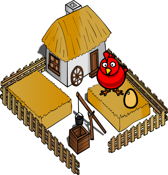 Hen house clipart graphic library library Hen On A Farm With Egg Clip Art at Clker.com - vector clip art ... graphic library library