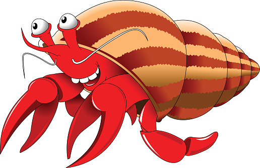 Clipart hermit crab picture free library Cute hermit crab clipart 9 » Clipart Station picture free library