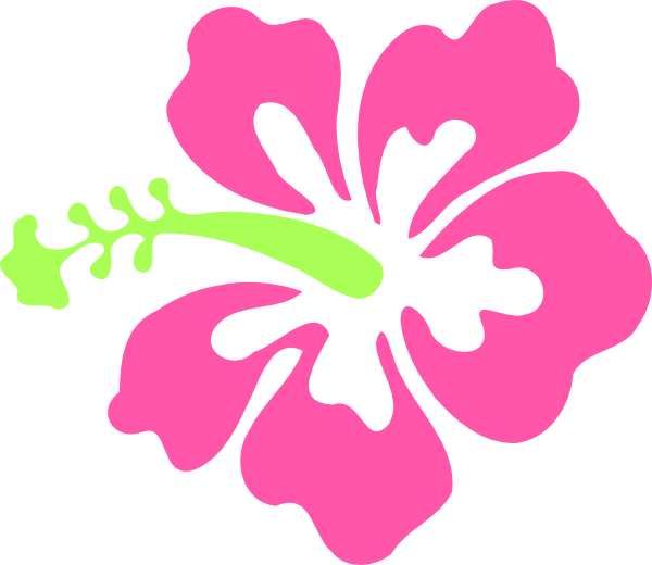 Hawiian flower clipart clipart transparent stock Pink Hibiscus Flower Clipart clipart transparent stock
