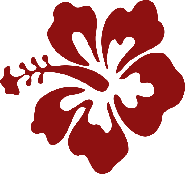 Hawaiian flower clipart png png black and white library Hibiscus Flower Red Clip Art at Clker.com - vector clip art online ... png black and white library