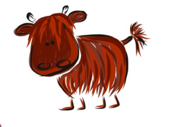 Clipart highlands picture black and white library Clip Art Dotty and friends - Highland Cows Selection picture black and white library