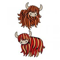 Highland cattle clipart banner stock Scottish Highland Cow SVG Cuttable Design | Cricut | Highland cattle ... banner stock