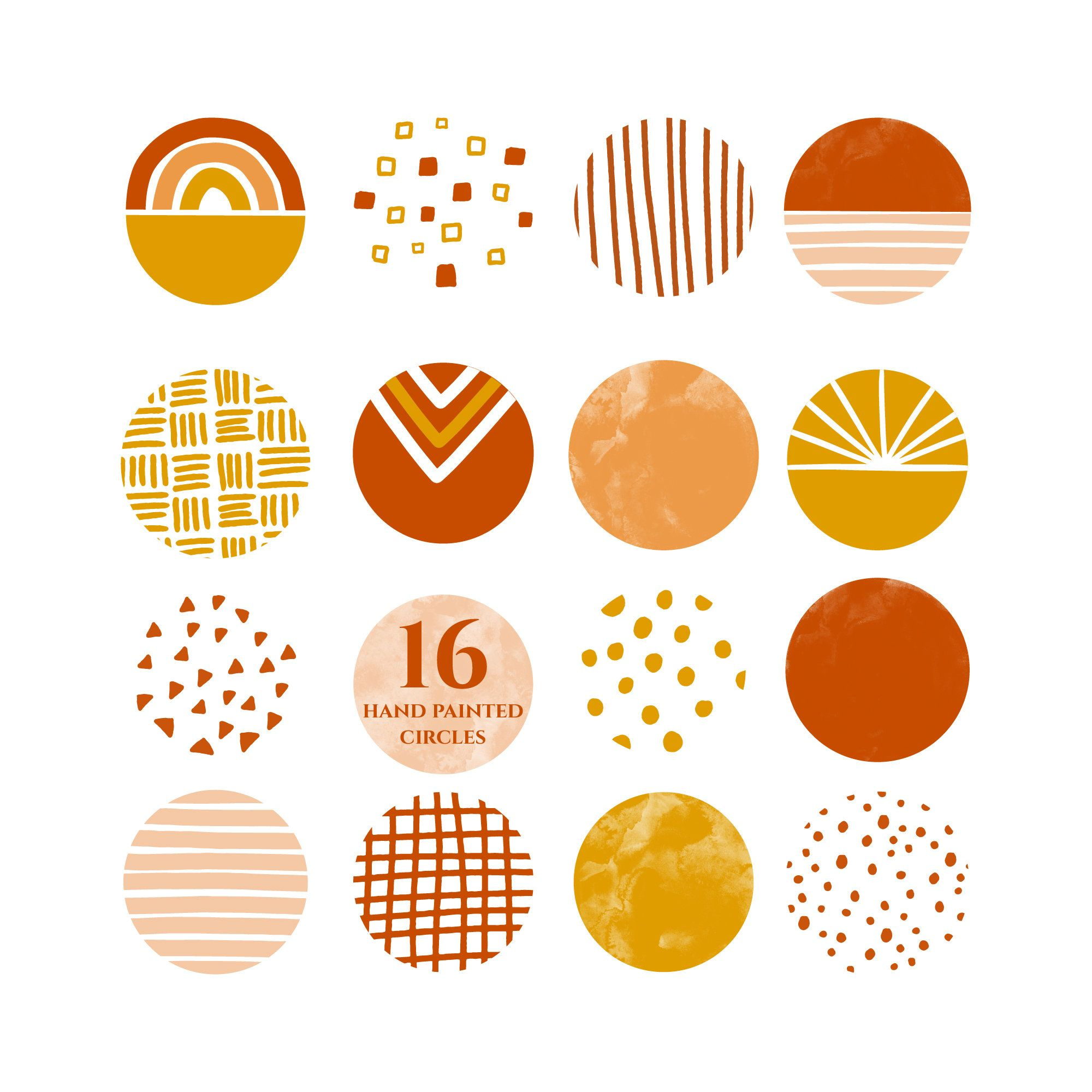 Clipart highlight png Instagram story highlight icons burnt orange mustard yellow orange ... png