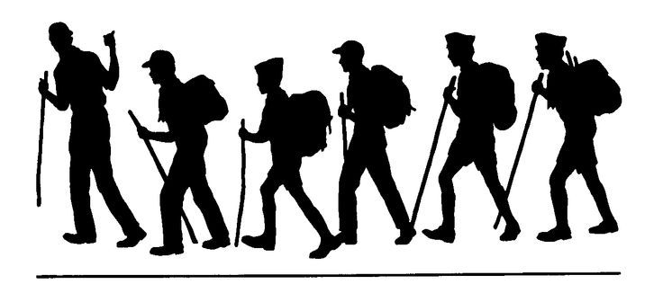 Clipart hikers banner royalty free Hiker free camping and hiking clipart graphics images | Scouts ... banner royalty free
