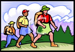 Clipart hikers png library download Group of Hikers - Royalty Free Clipart Picture png library download