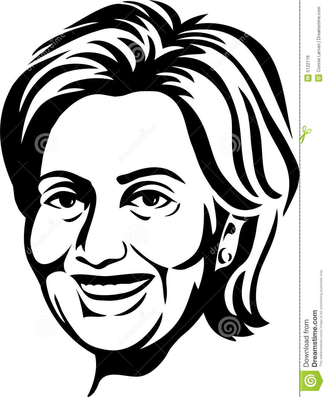 Clipart hillary clinton vector black and white stock Hillary Clinton Sketch at PaintingValley.com | Explore collection of ... vector black and white stock