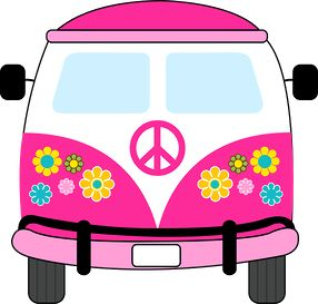 Clipart hippie gratuit picture freeuse Dibujos. Clipart. Digi stamps - Hippie Van - Pink Car | Dibujos ... picture freeuse