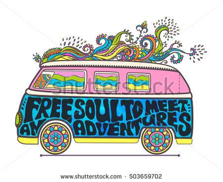 Clipart hippie gratuit. Banque d images et