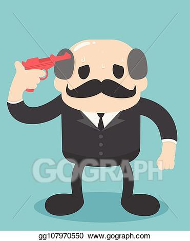 Clipart his clipart royalty free Vector Clipart - Businessman ready to shoot yourself. problems in ... clipart royalty free