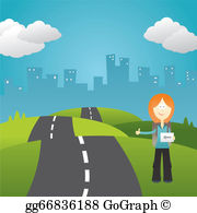 Clipart hitchhiker graphic free download Hitchhiker Clip Art - Royalty Free - GoGraph graphic free download