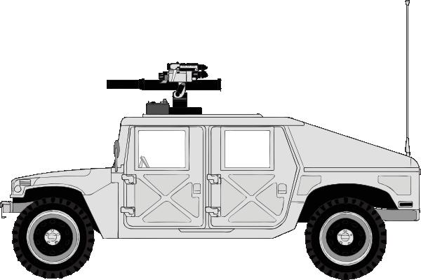 Clipart hmmwv clip stock Armed Hummer Clip Art at Clker.com - vector clip art online, royalty ... clip stock