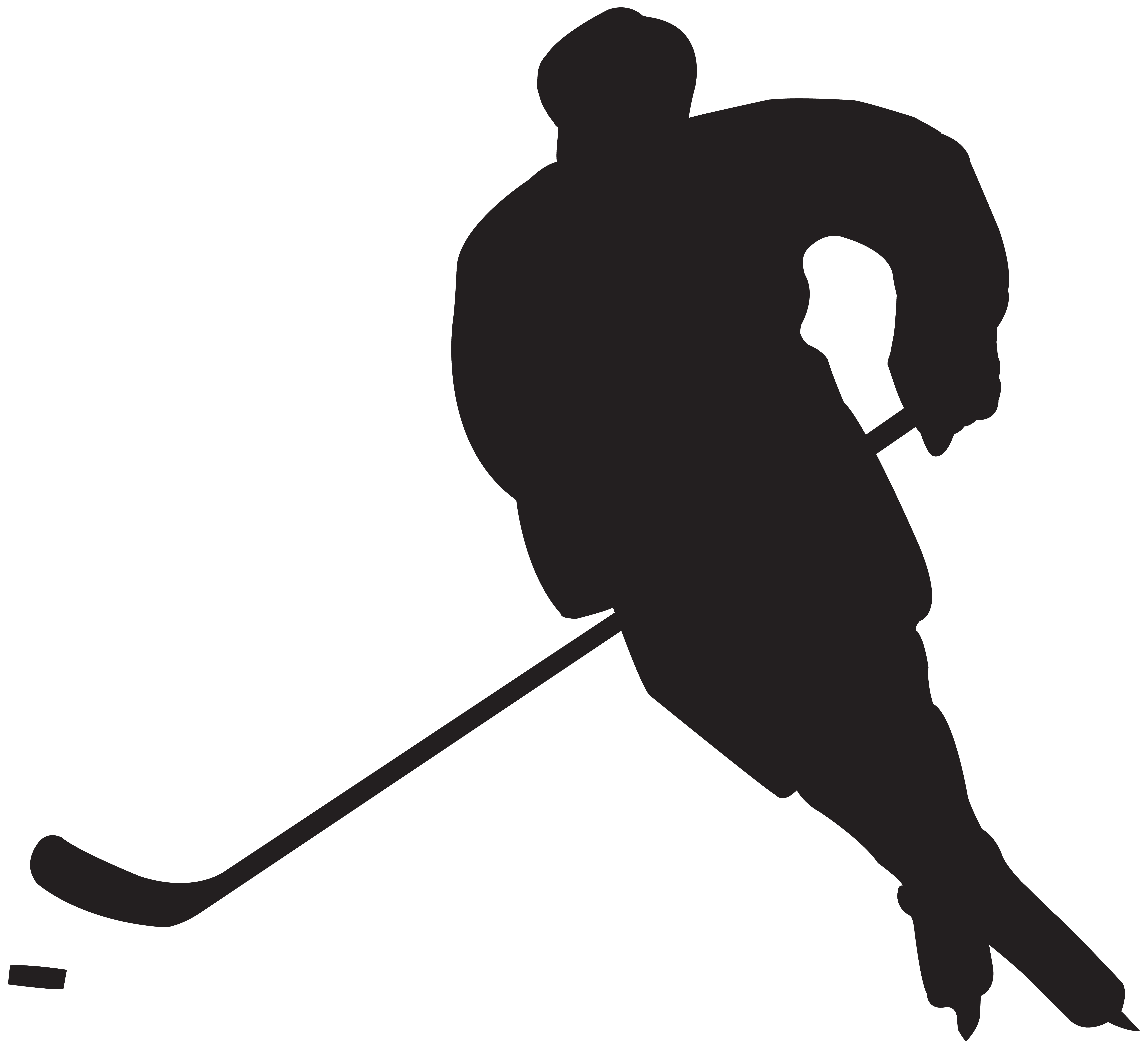 Clipart hockey black and white stock Hockey Player Silhouette PNG Clip Art | Gallery Yopriceville - High ... black and white stock
